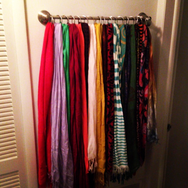 rose: a new scarf rack | the nine to five balance