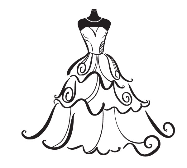 vintage-wedding-dress-clipart-wedding-dress-clipart